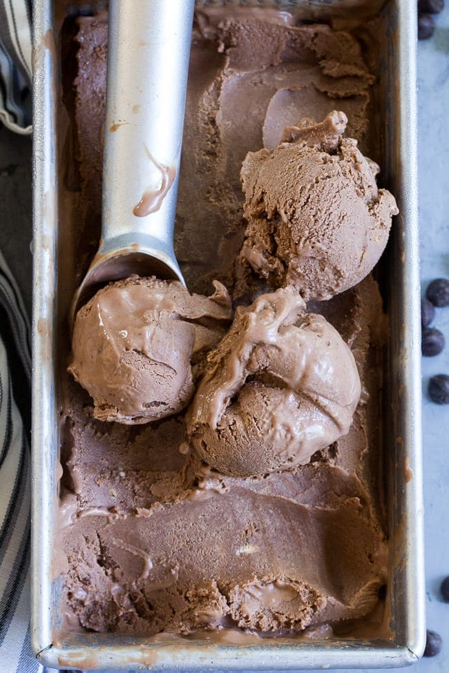 no-churn chocolate coconut milk ice cream