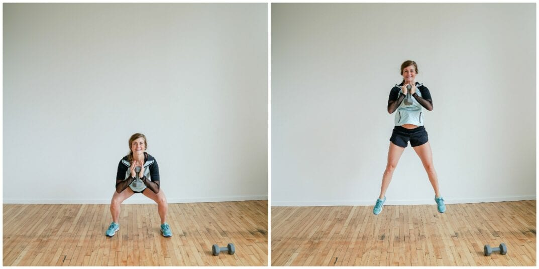 Goblet Squat Jumps