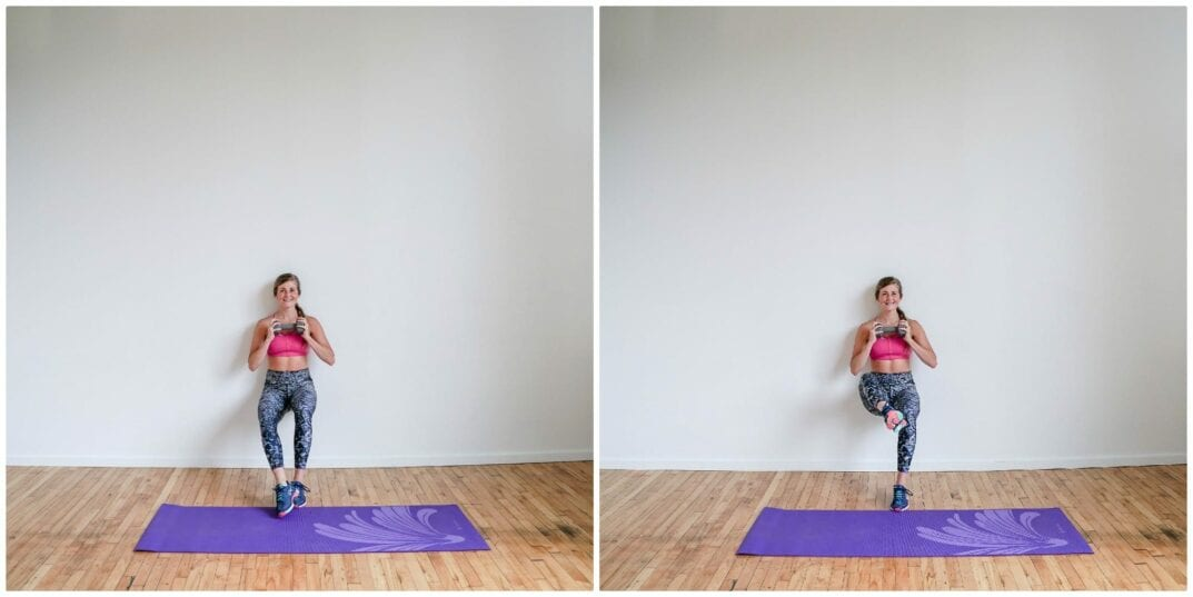 Wall Sit + Inner Thigh Leg Lift