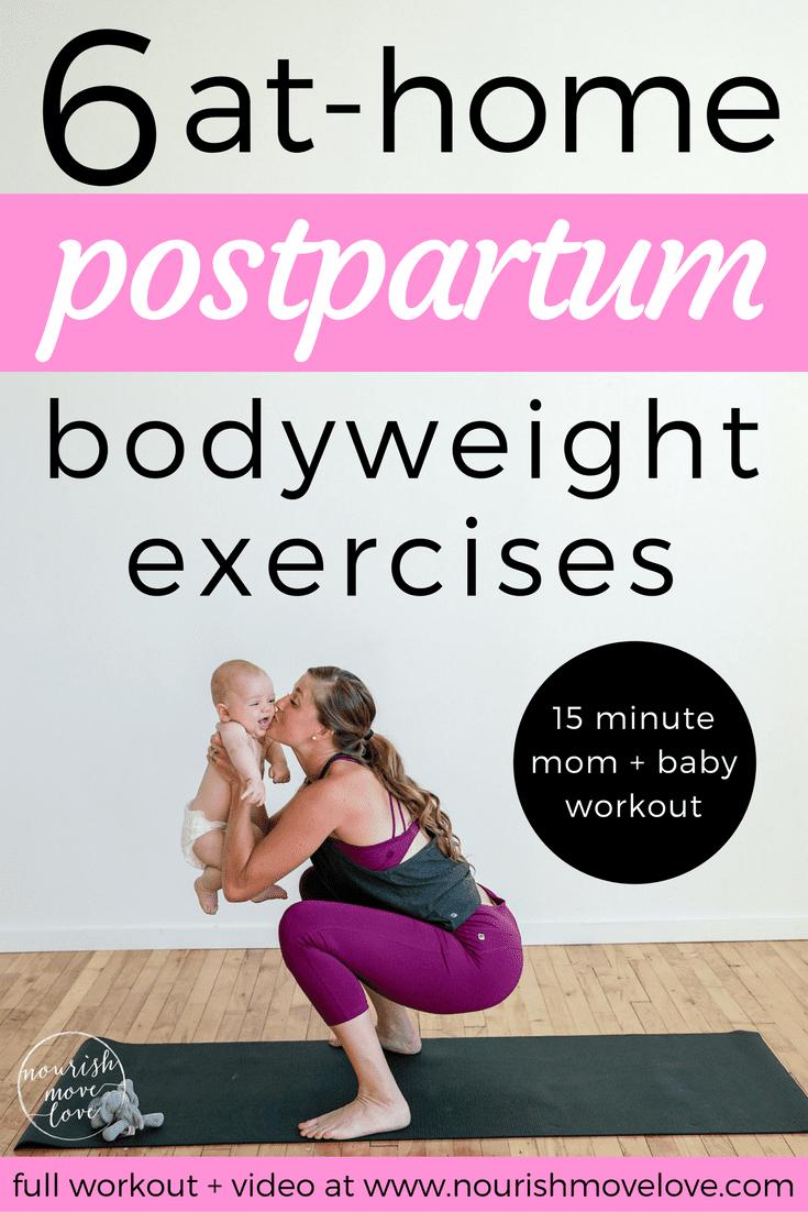 Postpartum Workout | www.nourishmovelove.com