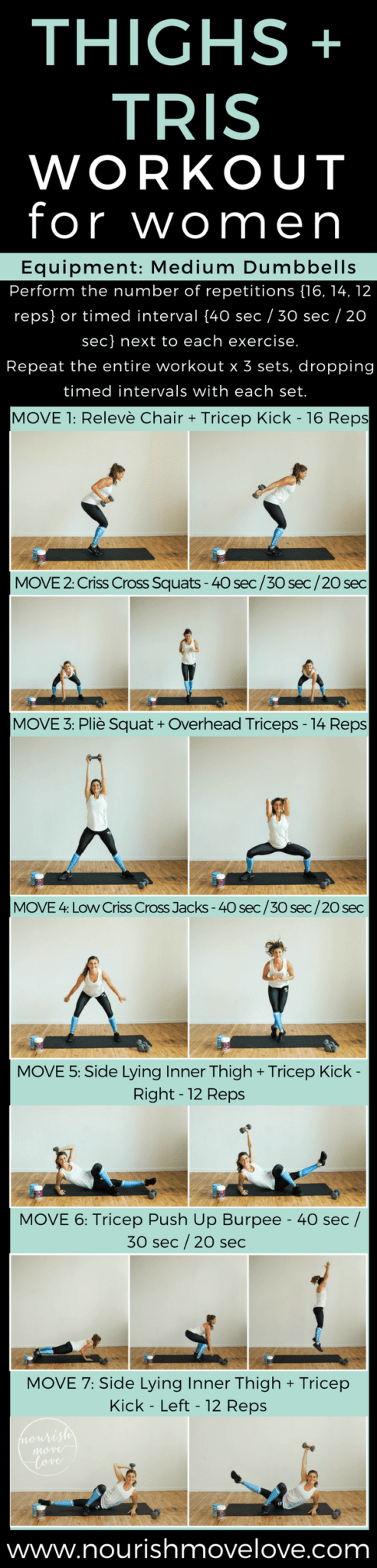 Thighs + Triceps Workout For Women | www.nourishmovelove.com