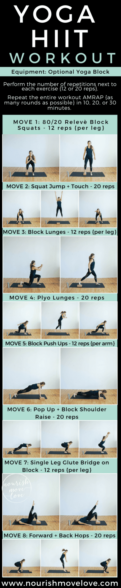 Yoga Hiit Workout With Athleta Nourish Move Love