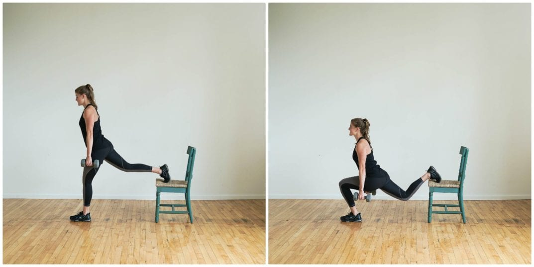 Chair Bulgarian Lunges