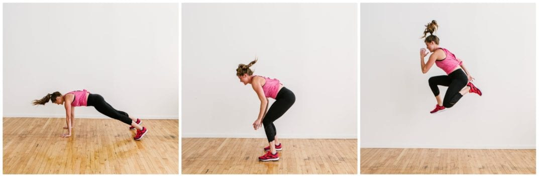 runner jump burpees | emom workouts