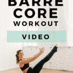 10 Minute Barre Core Workout | www.nourishmovelove.com
