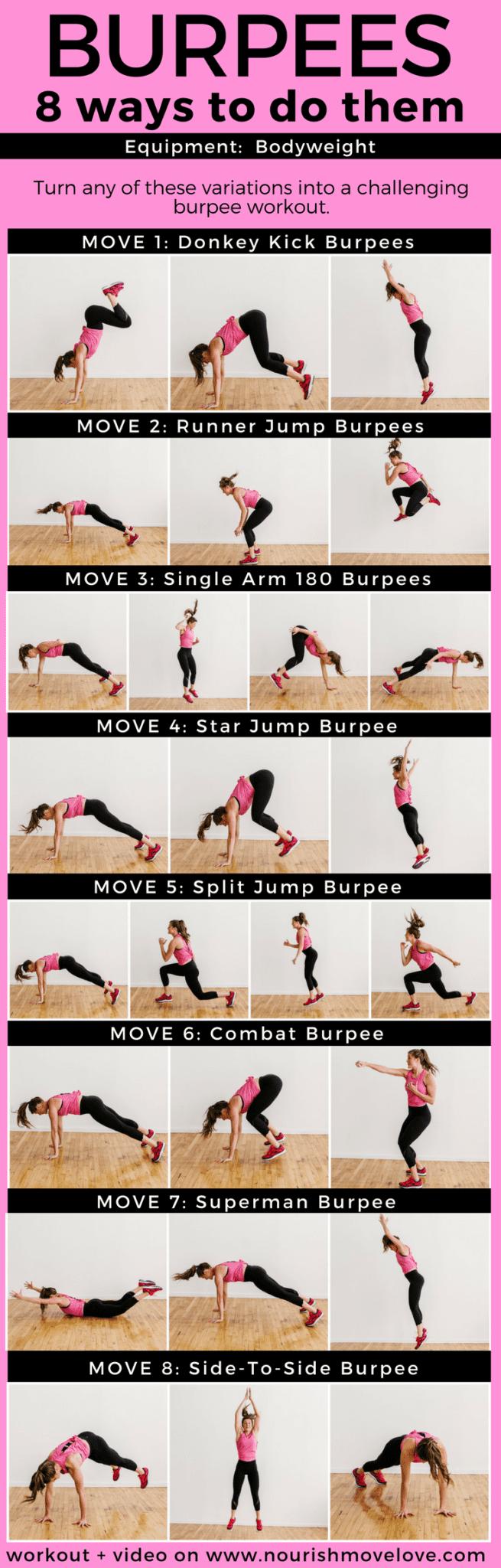 8 Butt-Kicking Burpees Workout   www.nourishmovelove.com
