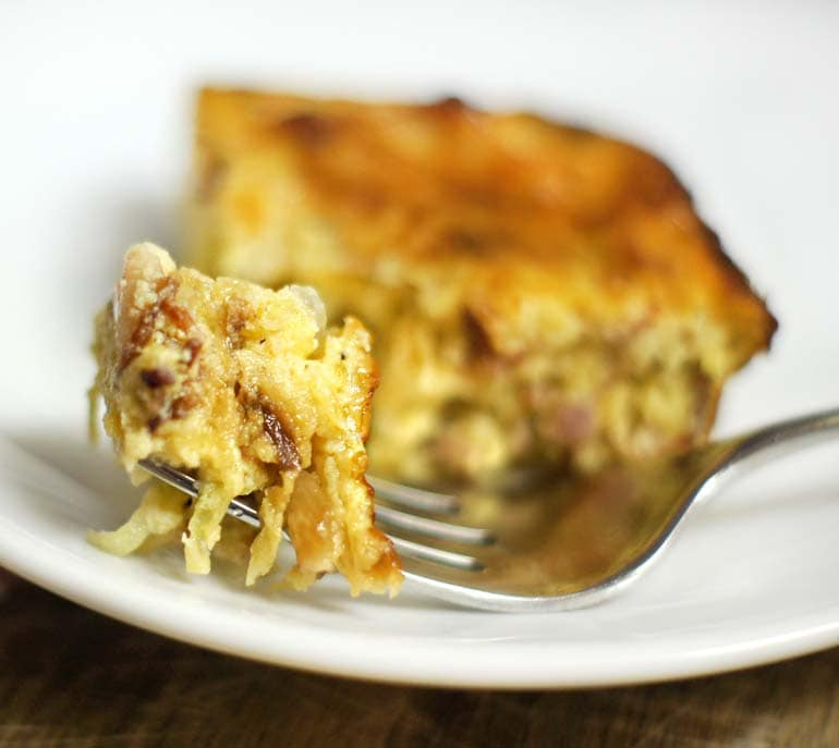 Bacon Gruyere Egg Casserole