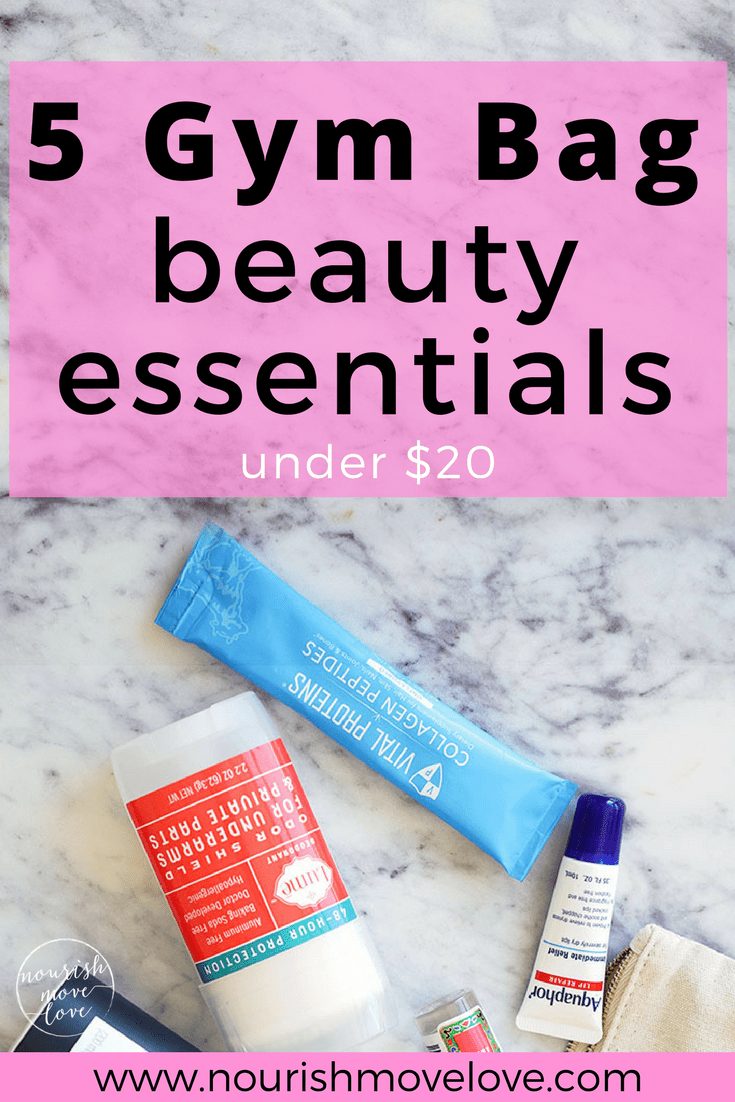 5 Gym Bag Beauty Essentials | www.nourishmovelove.com