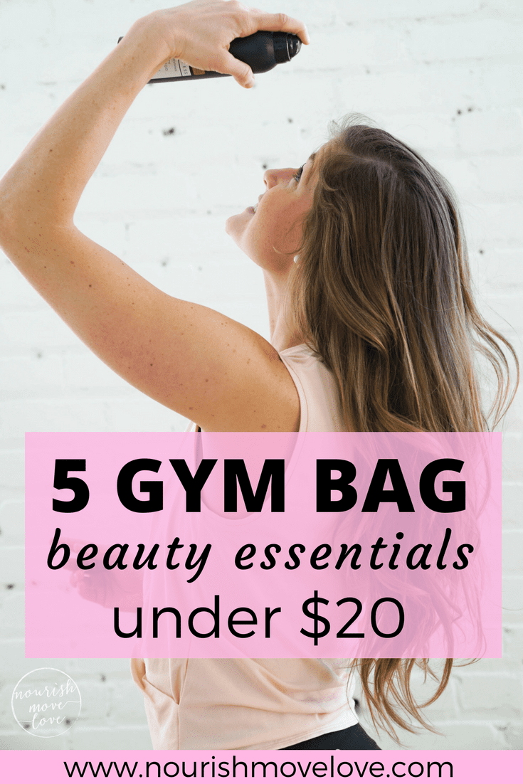 5 Gym Bag Beauty Essentials Under $20 | www.nourishmovelove.com