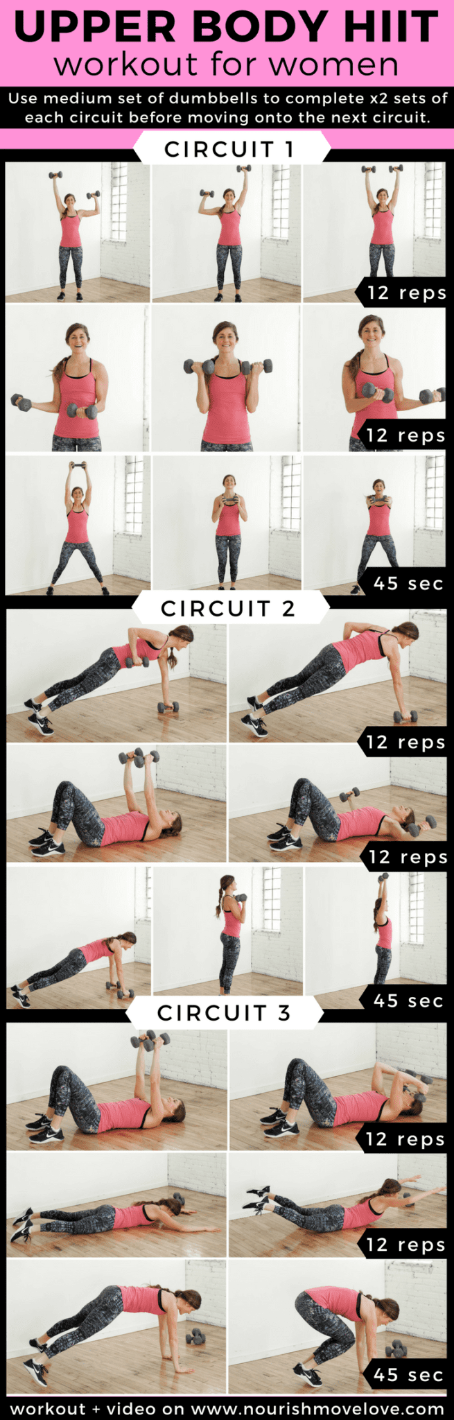 Upper Body Hiit Workout For Women Nourish Move Love Circuit Style