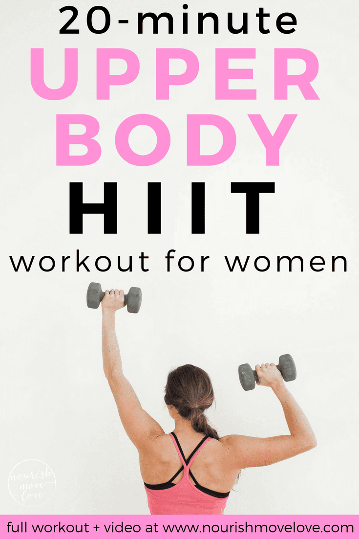 Upper Body HIIT Workout for Women | www.nourishmovelove.com
