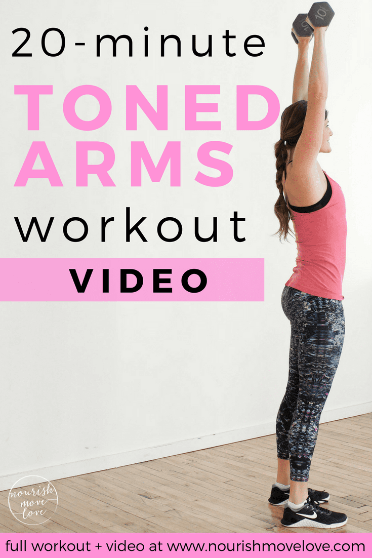 Toned Arms Workout | www.nourishmovelove.com