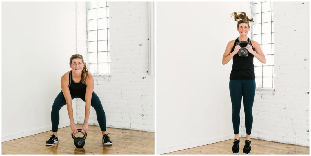 20-minute Kettlebell Cardio Workout | burn up to 400 calories with this efficient KB circuit | www.nourishmovelove.com