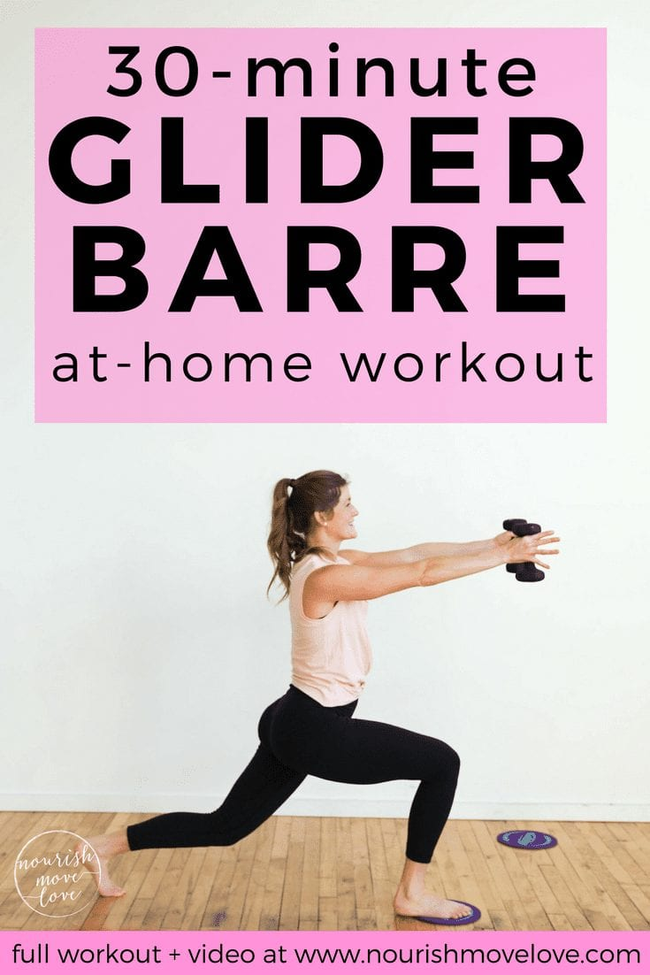 Sculpting Gliding Discs Barre Workout | www.nourishmovelove.com