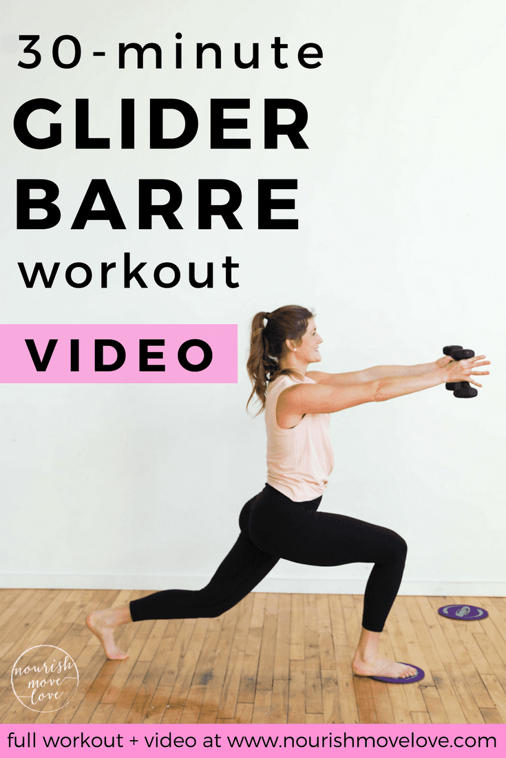 30-Minute Glider Disc Barre At-Home Workout | www.nourishmovelove.com