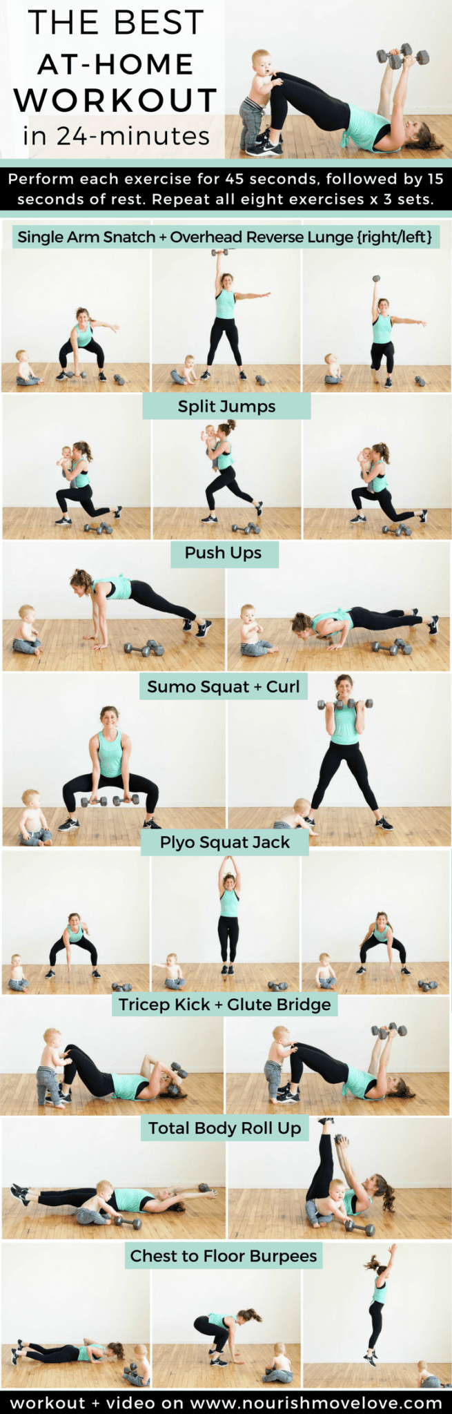 The Best At Home Strenght + HIIT Workout for Women | www.nourishmovelove.com