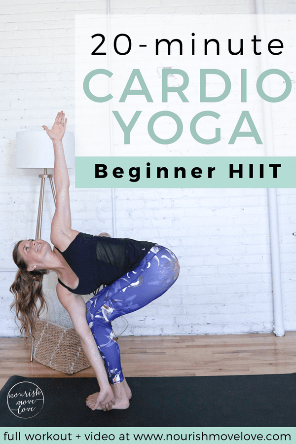 Beginner HIIT Cardio Yoga Workout | www.nourishmovelove.com