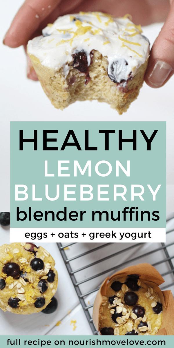 Healthy Lemon Blueberry Blender Muffins
