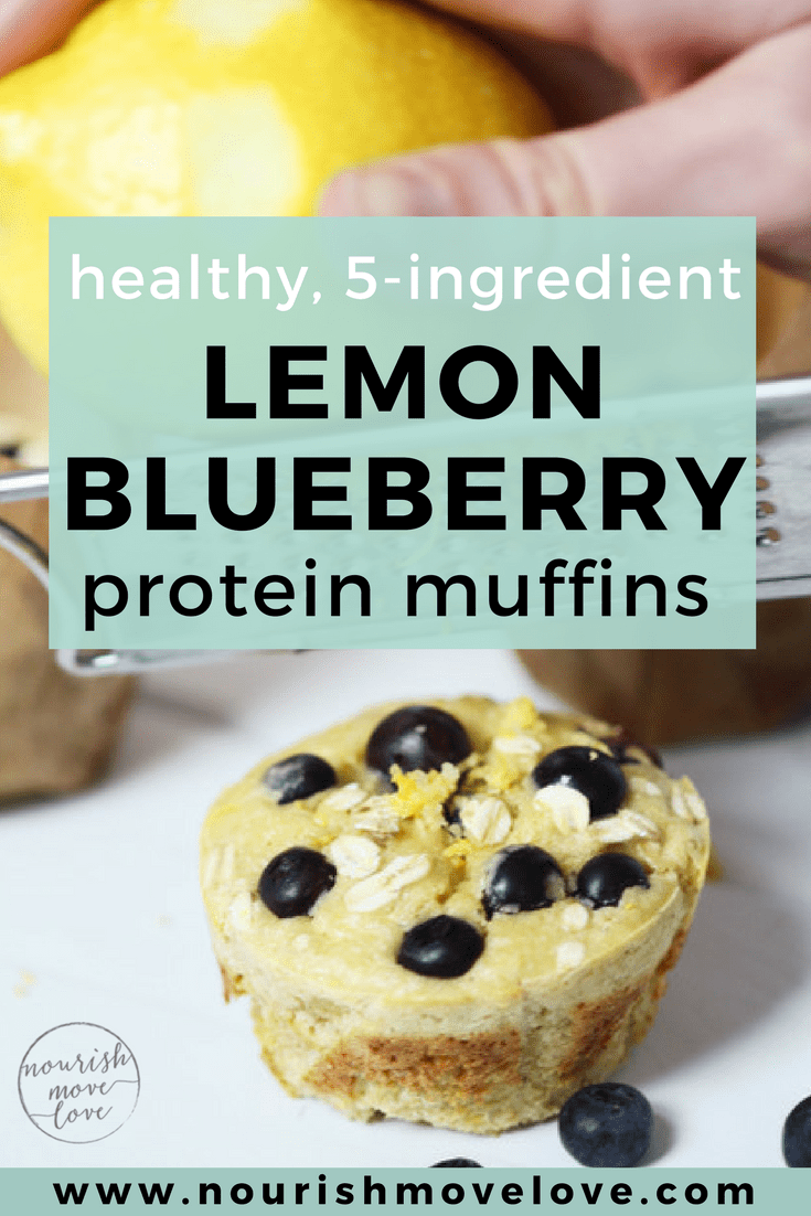 Healthy Lemon Blueberry Protein Muffins