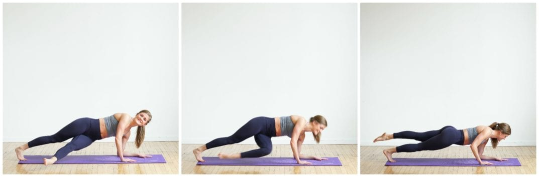 How to do Plank Kick Throughs