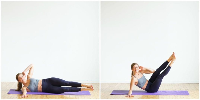 Oblique V-Up Crunch ab exercise