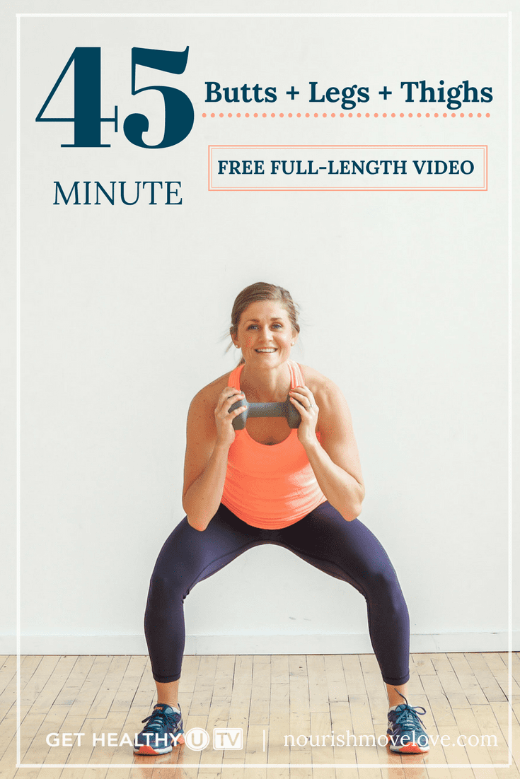 Free 45-Minute, Butt, Legs + Thighs At-Home Workout Video