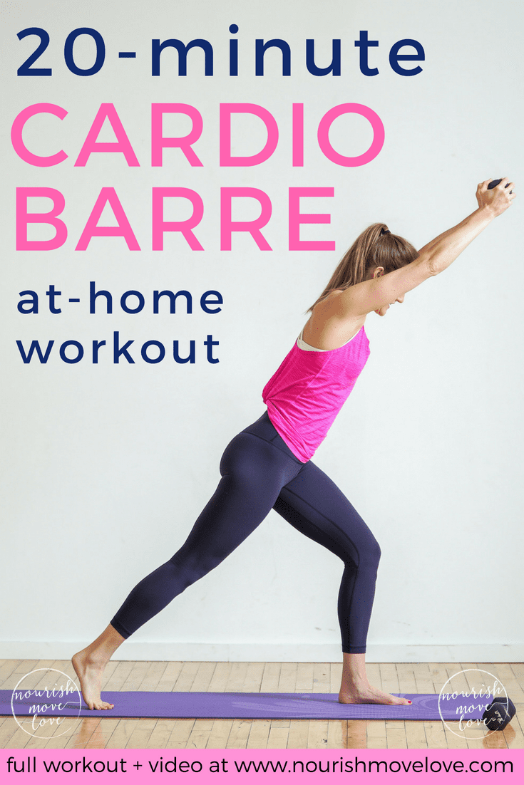 20-Minute Cardio Barre Home Workout