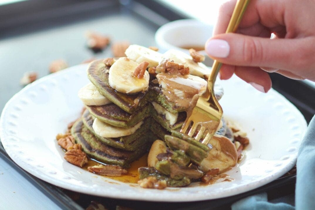 Meal Prep Spinach Banana Pancakes