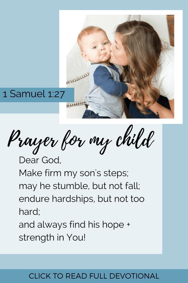 Mother's Prayer for Her Child