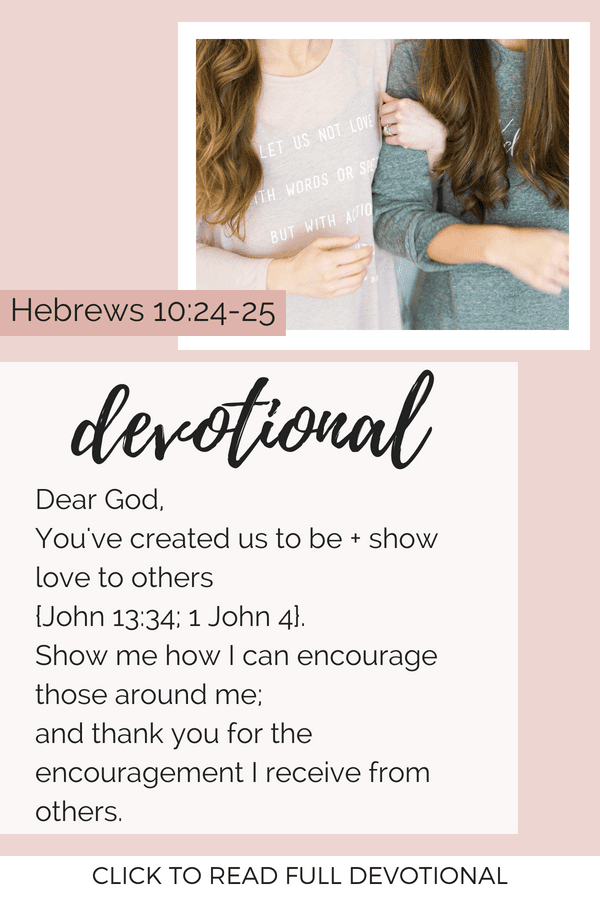 Devotional Hebrews 10:24-25
