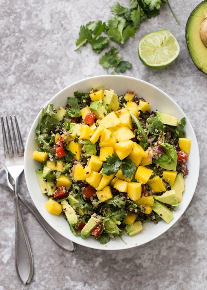 mango quinoa salad | 8 healthy bbq side dishes | www.nourishmovelove.com