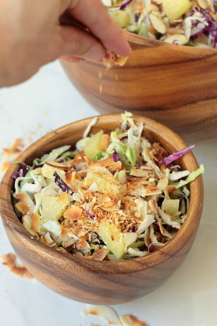 pina colada coleslaw | 8 healthy bbq side dishes | www.nourishmovelove.com