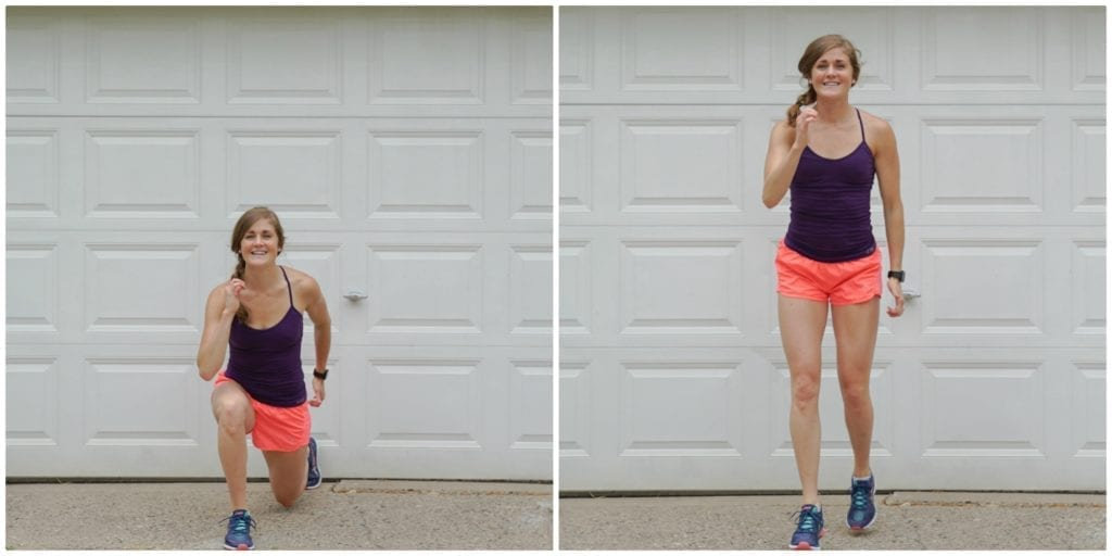 runner lunge | full body hiit workout