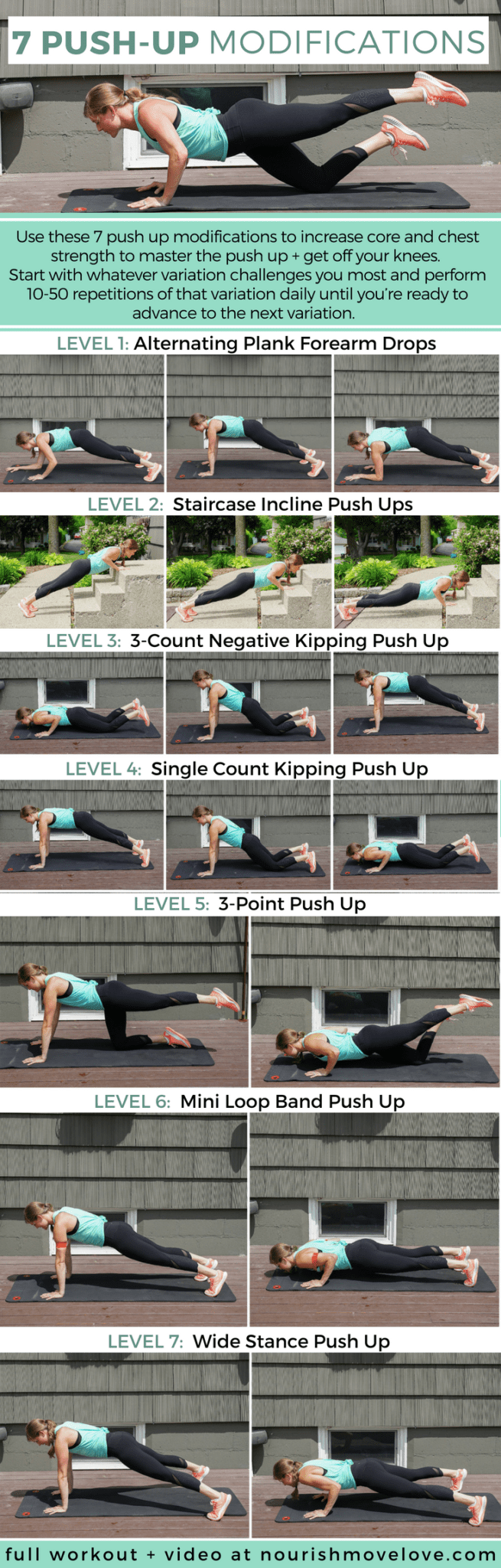 7 Push Up Modifications To Get Off Your Knees Nourish