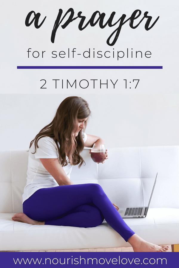Prayer for Self-Discipline | 2 Timothy 1:7
