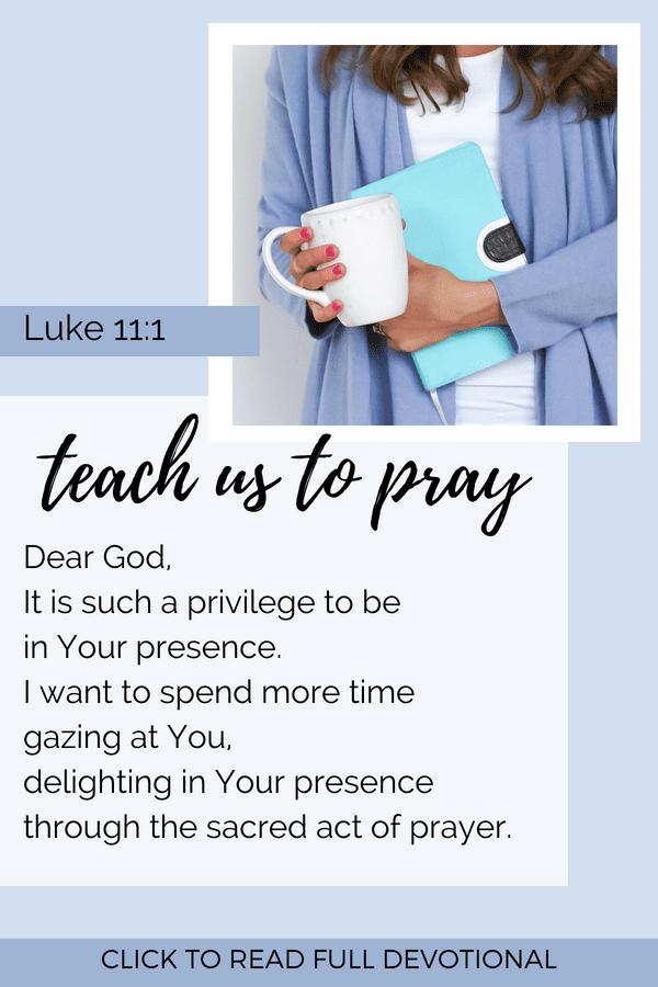 Prayer Devotional Luke 11:1