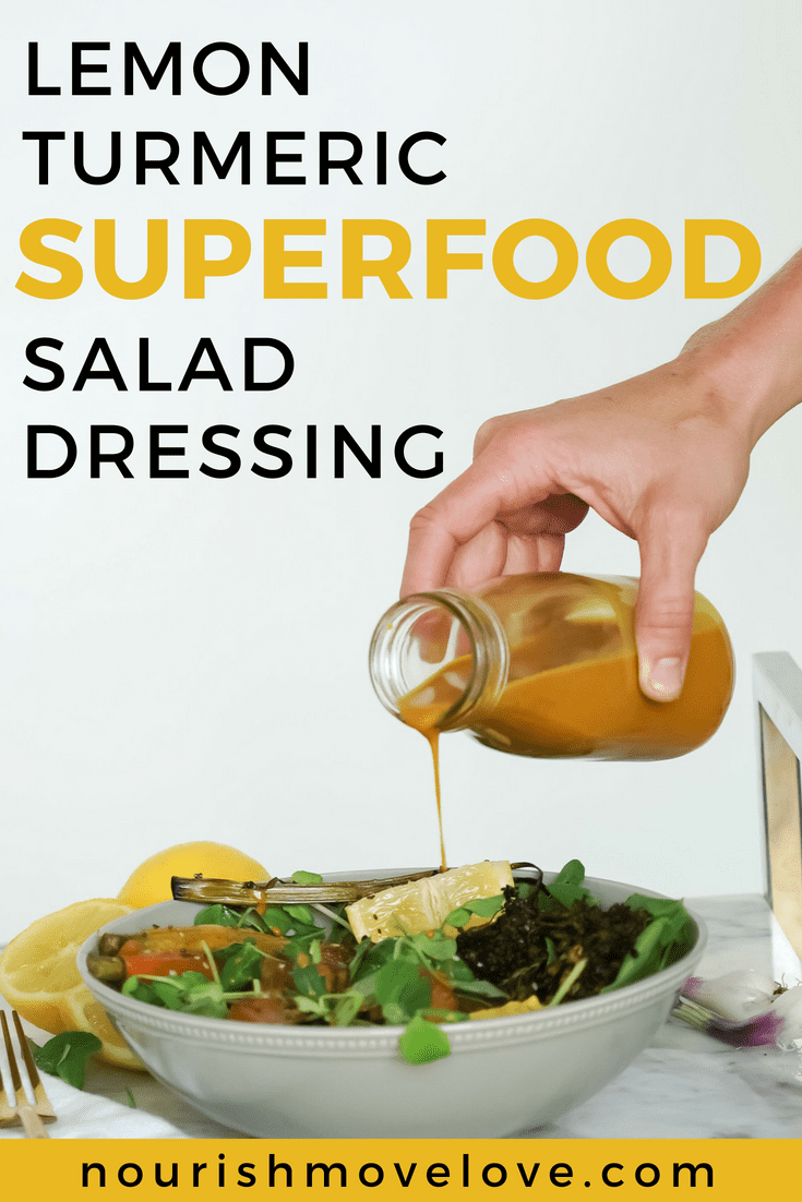 Lemon Turmeric Superfood Salad Dressing