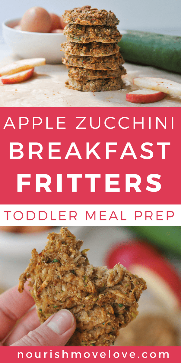 Apple Zucchini Breakfast Fritters Toddler Meal Prep