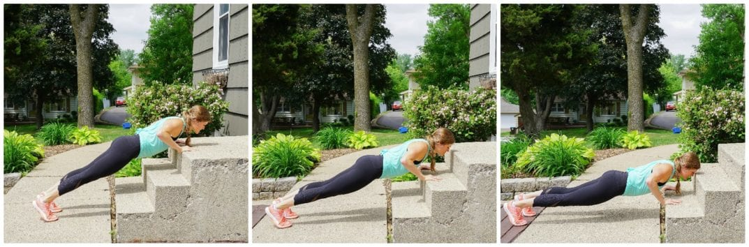 Staircase Incline Push Ups