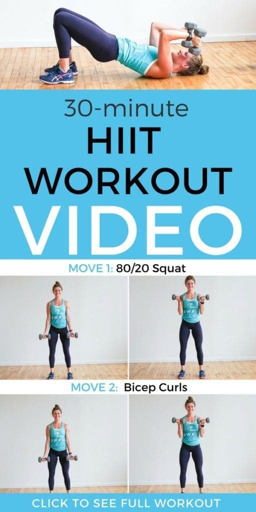 FULL WORKOUT VIDEO | 30-Minute HIIT Workout with Weights | At-Home Workout for Women