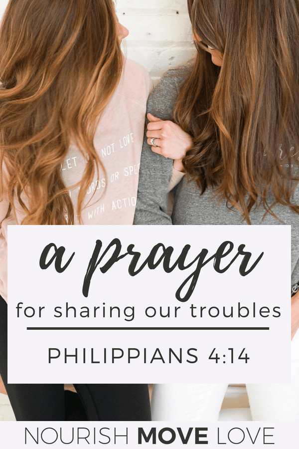 Devotional Prayer: Sharing Seasons | Philippians 4:14 Bible Study for Women