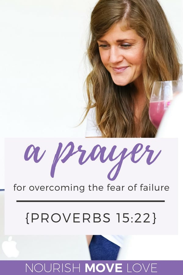 Devotional prayer for overcoming fear of failure | Proverbs 15:22 | Bible Verse | Bible Study