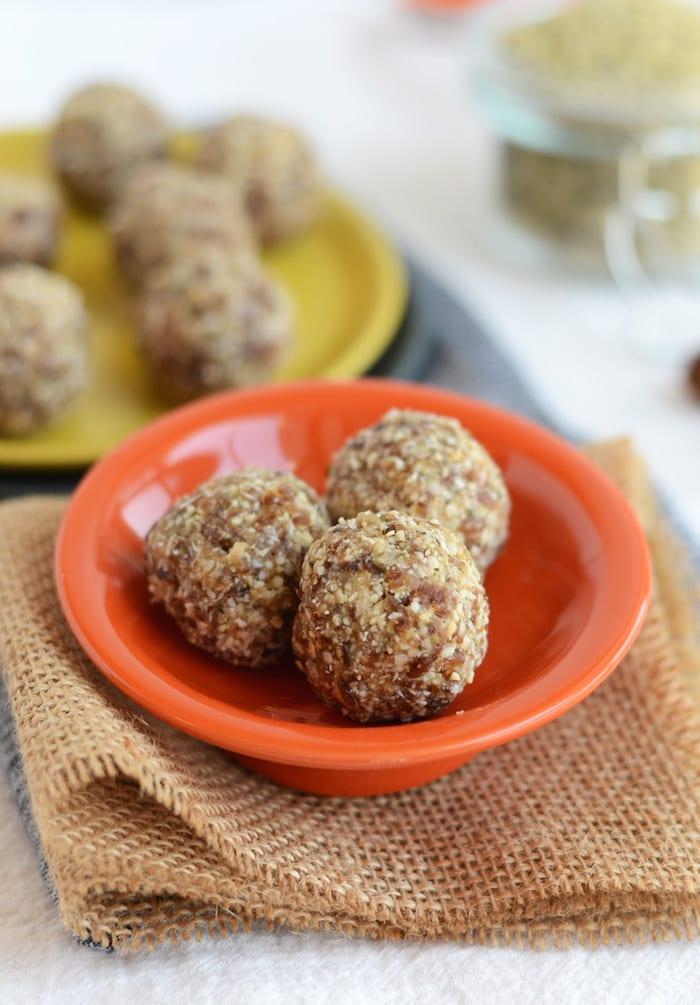 cashew hemp seed balls | healthy packable snacks