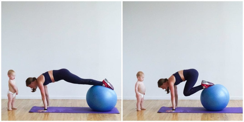 Stability Ball Knee Tucks