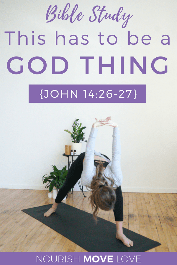 Devotional: It's a God Thing {John 14:26-27} | Devotional | Bible Study | Prayer