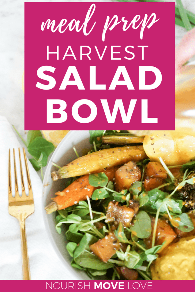 Roasted Vegetable Harvest Salad Bowl | Meal Prep