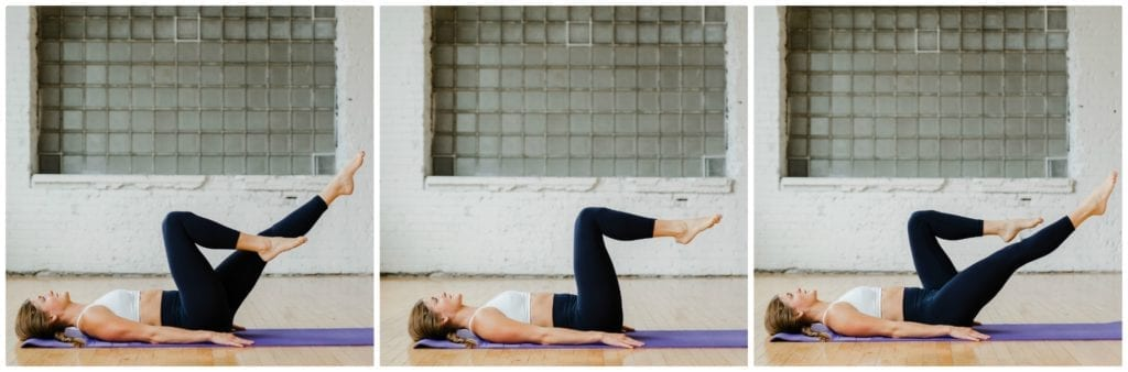 Elevated Leg Extension + 2 Circles | postpartum core recovery workout