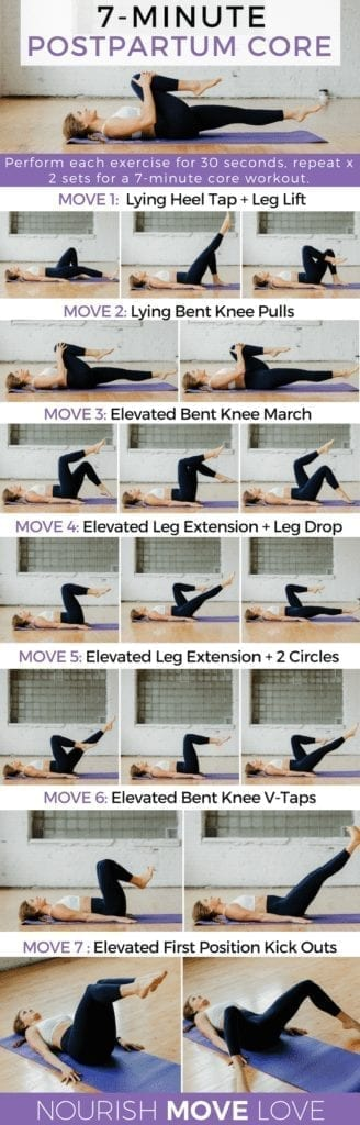 7 Exercises for Postpartum Core Recovery + Diastasis Recti