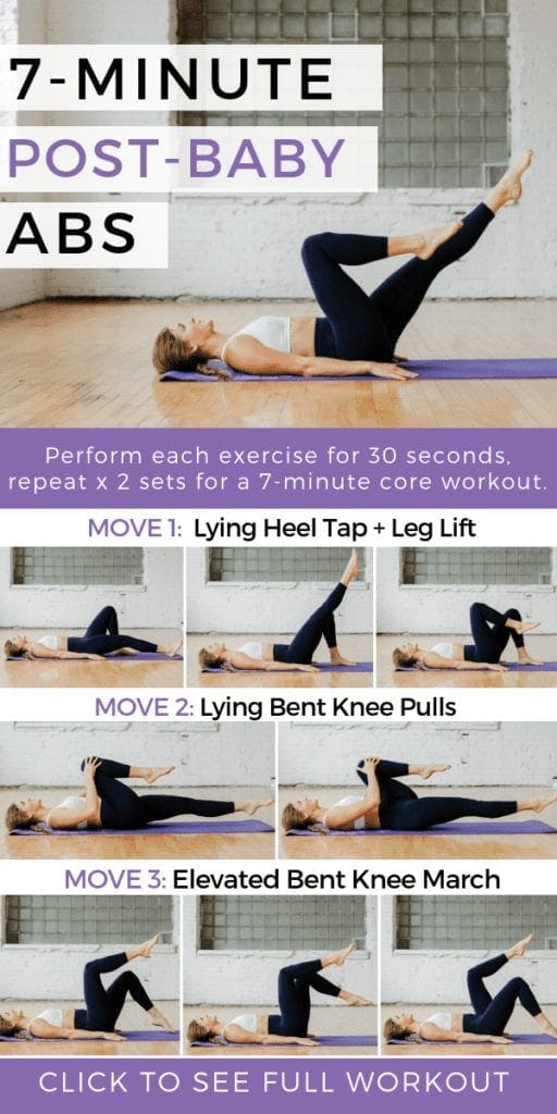 7 Minute Post Baby Abs