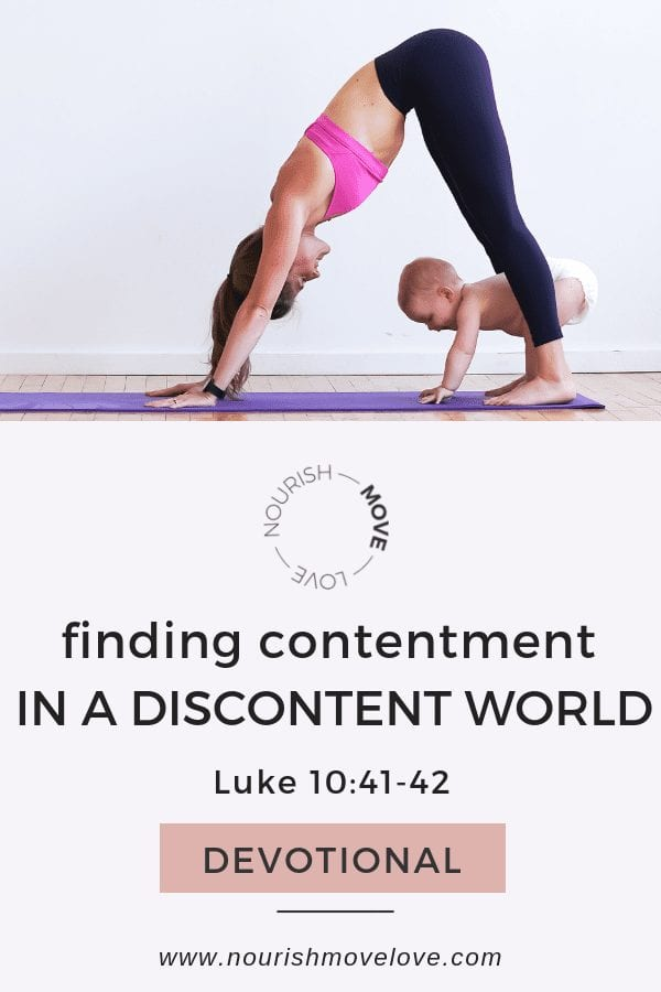 Contentment prayer - a prayer for finding contentment | Luke 10:41-42 | Bible Study